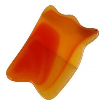 Accesoriu pentru masaj Gua Sha portocaliu patrat - GH000