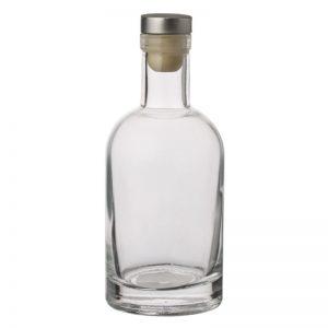 Sticla transparenta cu dop – 200 ml